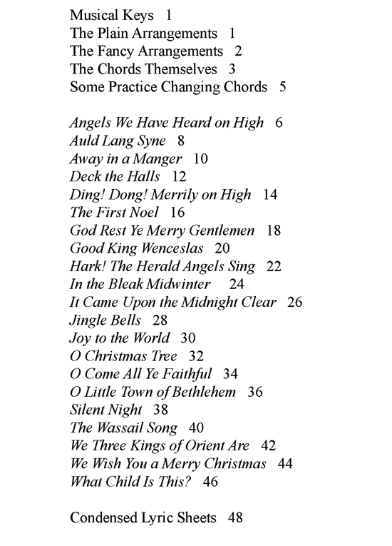 mandolin table of contents